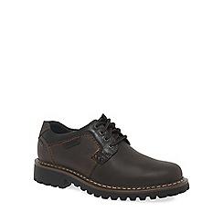 Josef Seibel - Dark brown 'Chance 08' Mens Waxed Brown Waterproof Casual Shoes
