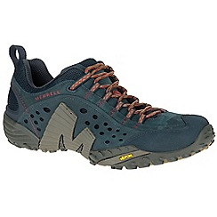 Merrell - Blue leather 'Intercept' casual trainers