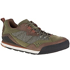 Merrell - Olive 'Burnt Rock' casual trainers