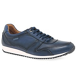Pikolinos - Blue leather 'Wirral' casual trainers