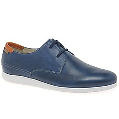 Pikolinos - Blue leather 'Fiesta' lace up casual shoes