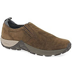 Merrell - Brown suede 'jungle moc ac+' mens casual slip on shoes