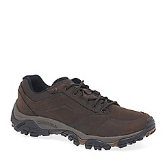 Merrell - Brown nubuck 'moab venture lace' sports shoes