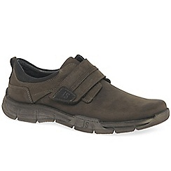 Josef Seibel - Dark brown nubuck 'Phil 05' riptape shoes