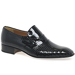 Paco Milan - Black 'Mijas' formal slip on shoes