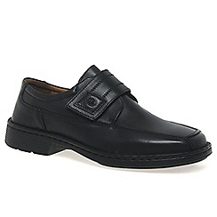 Josef Seibel - Black 'Bartram' mens extra wide shoes