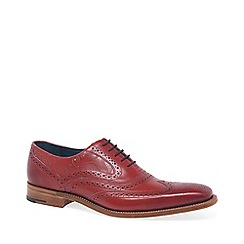 Barker - Dark red 'McClean' mens formal brogues