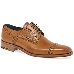 Barker - Tan 'Haig' mens brown leather derby shoes