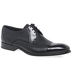 Barker - Black 'Fred' mens black leather derby shoes