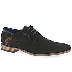 Bugatti - Dark brown suede 'Ohio' smart lace up shoes