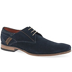 Bugatti - Navy suede 'Ohio' smart lace up shoes