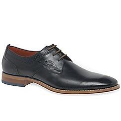 Bugatti - Navy leather 'Lattice' smart lace up shoes