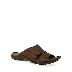 Josef Seibel - Brown 'Logan' slide mens mules
