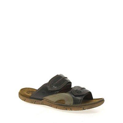 Josef Seibel Dark brown Prep Mens Casual Sandals