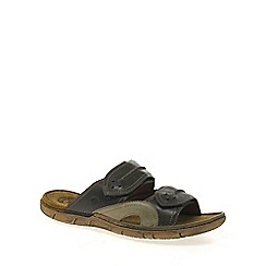 Josef Seibel - Dark brown 'Prep' Mens Casual Sandals