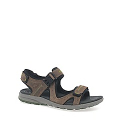 Ecco - Brown 'Cruise' mens casual sandals