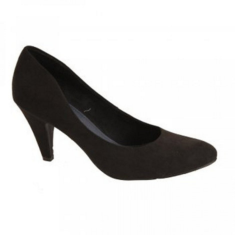 Marco Tozzi - Black +Eclipse+ Ladies High Heeled Court Shoes