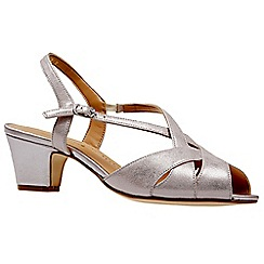 Van Dal - Metallic leather 'Libby II' mid heel wide fit sandals