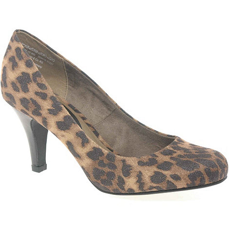 Marco Tozzi - Multi Coloured +Penny+ Womens Leopard Print Court Shoes