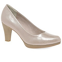 Marco Tozzi - Natural 'Alpha' Womens Court Shoes