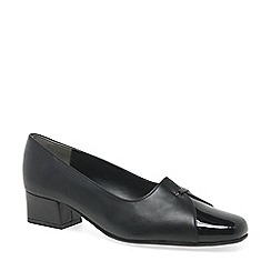 Van Dal - Black dawn block heel wide fit court shoes