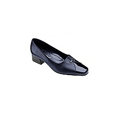 Van Dal - Navy Dawn Block Heel Wide Fit Court Shoes