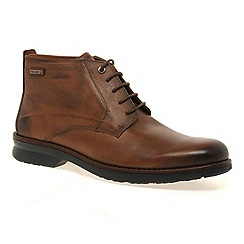 Pikolinos - Tan 'dalkey' mens lace up casual boots