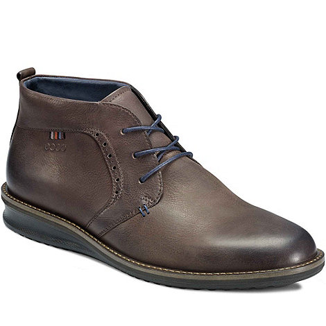 Ecco - Brown contour mens lace up boots