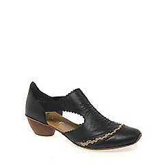 Rieker - Black 'Martha' rouched trim shoes