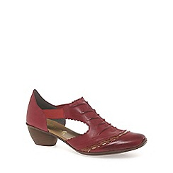 Rieker - Red 'Martha' rouched trim dress shoes