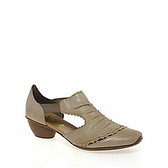 Rieker - Beige 'Martha' rouched trim shoes