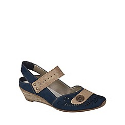 Rieker - Navy 'Milly' sling back mary jane wedges