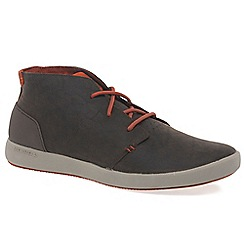 Merrell - Dark brown 'Freewheel' mens chukka boots