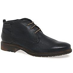 Bugatti - Black 'Herringbone' Mens Casual Leather Boots