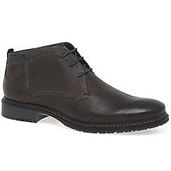 Bugatti - Brown 'Herringbone' Mens Casual Leather Boots