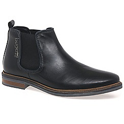 Bugatti - Black 'Dawson' Mens Black Leather Chelsea Boots