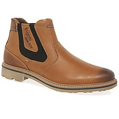 Bugatti - Tan 'Chancer' mens chelsea boots