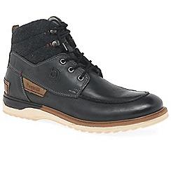 Bugatti - Black 'Canyon' mens lace up boots