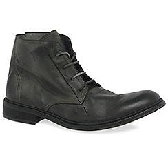Fly London - Grey 'Hobi' mens military boots