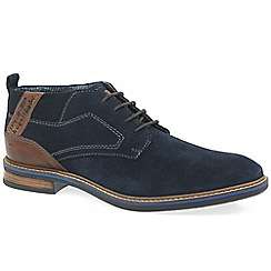 Bugatti - Navy suede 'Nixon' lace up ankle boots