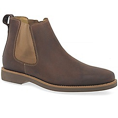 Anatomic & Co - Brown leather 'cardoso' mens chelsea boots