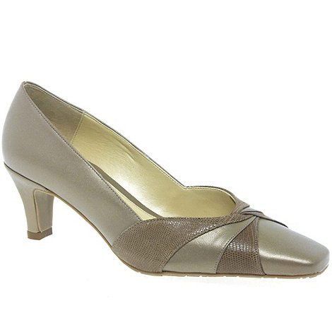 Van Dal - Taupe Amiens Dressy Wide Fit Court Shoe
