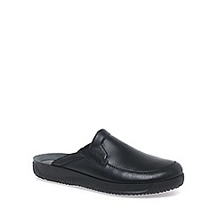 Rohde - Black 'Marsh' Mens Leather Mules Slippers
