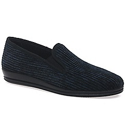 Rohde - Navy 'Cord' Mens Slippers