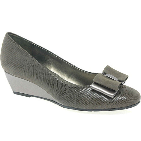 Van Dal - Metallic +Lille Ii+ Bow Trimmed Wedges