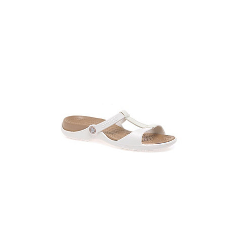 Crocs - White 'cleo iii' ladies fashion mules 11216