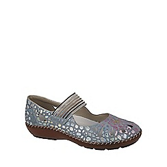 Rieker - Light blue 'Cindy' mary jane casual womens shoes