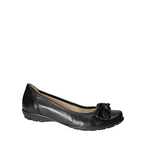 Gabor - Black +Glitz+ Black Ballerina Pumps