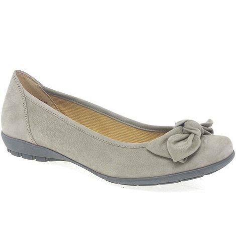 Gabor - Grey +glitz+ ballerina pumps