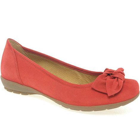 Gabor - Red +glitz+ ballerina pumps